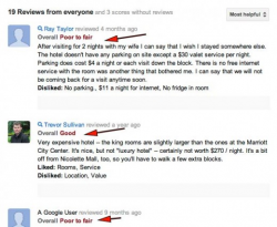 Google+ Local Reviews Now Showing Descriptive and Not Numerical Scores
